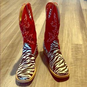 Roper Zebra Print Boots